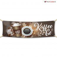 Kaffee to Go - Werbebanner - PVC Planen Werbeplane