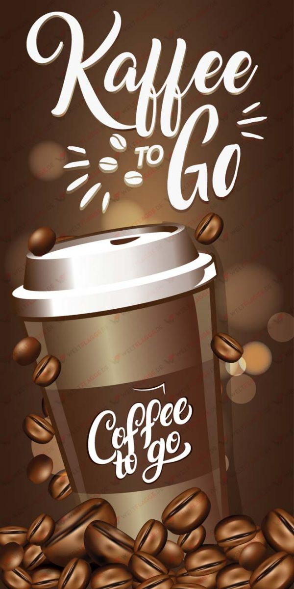 Kaffee to Go Roll-Up Banner - Werbebanner