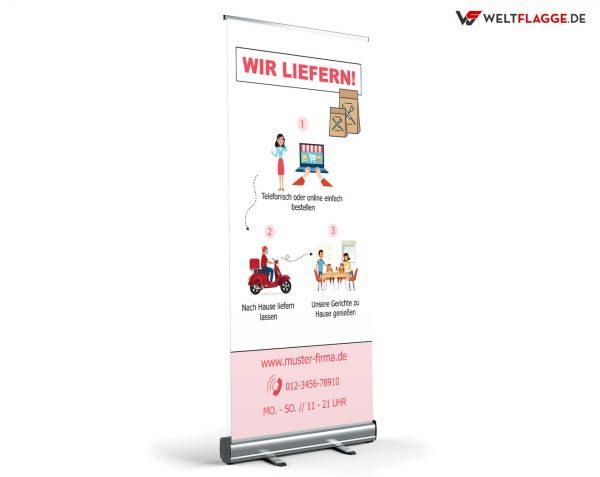 Restaurant Lieferservice Roll-Up Banner - Werbebanner
