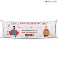 Jetzt auch online bestellen! - Werbebanner - PVC Planen Werbeplane