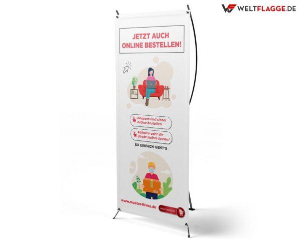 Jetzt auch online bestellen! - X-Banner - PVC Planen Werbeplane