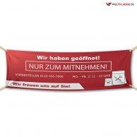 Nur zum Mitnehmen! - Werbebanner - PVC Planen Werbeplane