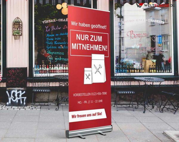 Nur zum Mitnehmen Roll-Up Banner - Werbebanner
