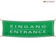 Eingang - Werbebanner - PVC Planen Werbeplane
