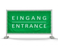 Eingang – Festival Bauzaunbanner - Werbebanner