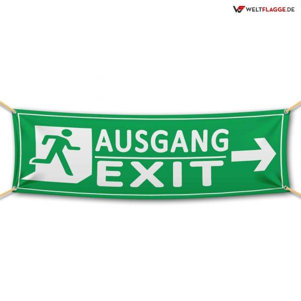 Ausgang / Exit - Werbebanner - PVC Planen Werbeplane
