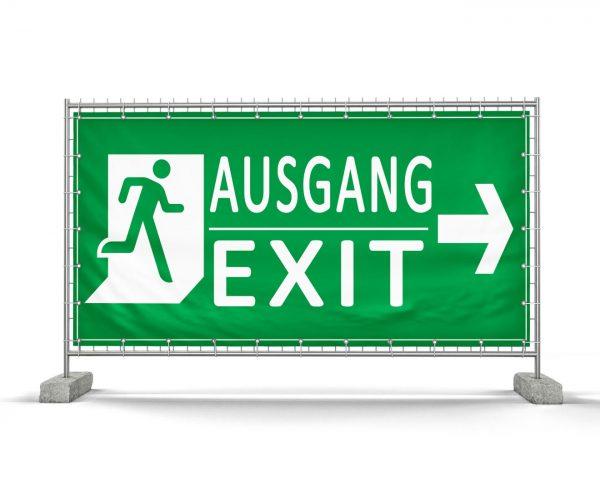 Ausgang / Exit Festival – Festival Bauzaunbanner - Werbebanner