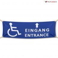Eingang für Behinderte - Festival Werbebanner - PVC Planen Werbeplane