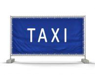 Taxi – Standplätze Festival Bauzaunbanner - Werbebanner