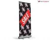 SALE Roll-Up Banner - Werbebanner / schwarz