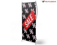 SALE - X-Banner - PVC Planen Werbeplane / schwarz