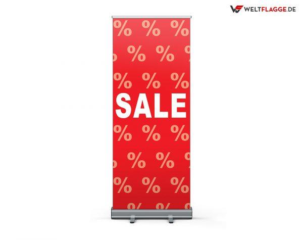 SALE Roll-Up Banner - Werbebanner / rot-weiß