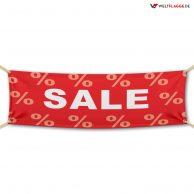 SALE – Werbebanner – PVC Planen Werbeplane / rot-weiß