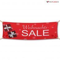 Weihnachts-SALE Werbebanner – PVC Planen Werbeplane