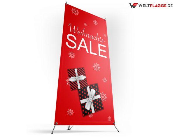 Weihnachts-SALE - X-Banner - PVC Planen Werbeplane