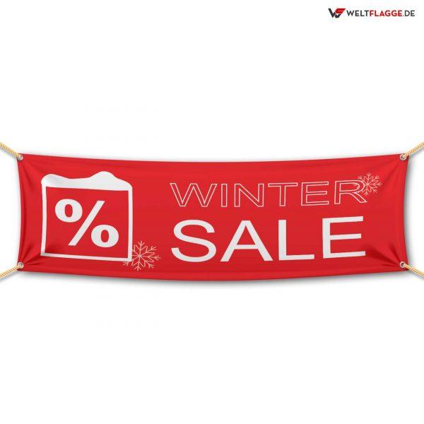 Winter SALE – Werbebanner – PVC Planen Werbeplane