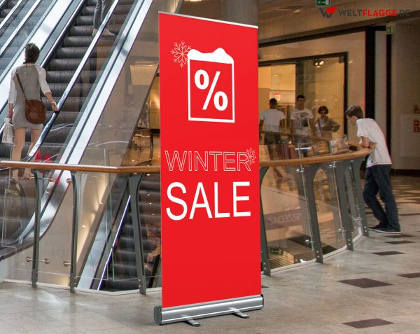 Winter SALE Roll-Up Banner - Werbebanner