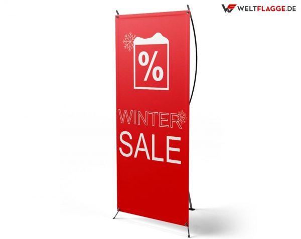 Winter SALE - X-Banner - PVC Planen Werbeplane
