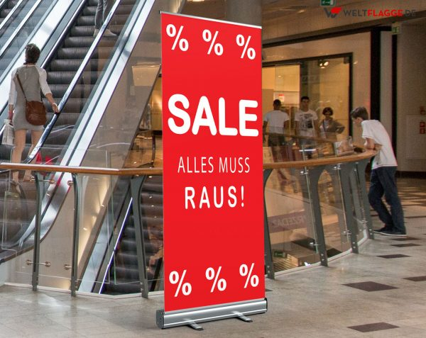 SALE / Alles muss raus! Roll-Up Banner - Werbebanner