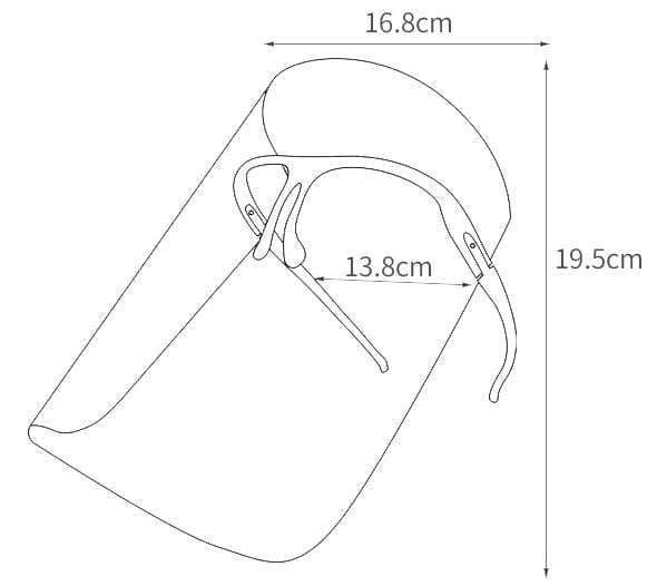 Face Shield mit Brille - wiederverwendbare Gesichtsschirm
